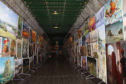 "Producer Center Boyko together with ANTONOV Company present an exhibition of paintings on a board of aircraft AN - 225 ""Mriya"". Project №62, ""Aviart–2012"""